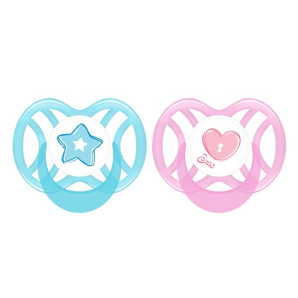 Orthodontic Silicone Soother 0-6 mths