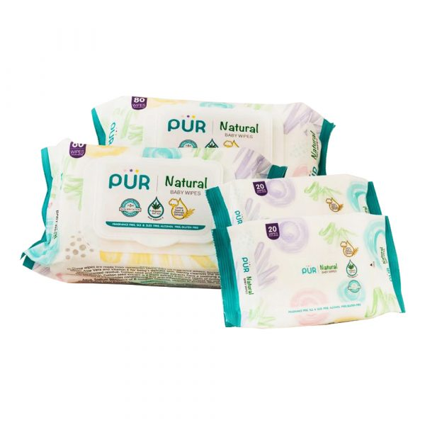 PUR Natural Baby Wipes